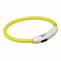 Collar LED amarillo para perros