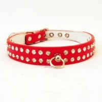 Collar rojo con brillantes