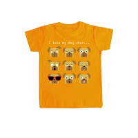 "Camiseta niño/a ""I love my dog when..."""