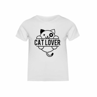 "Camiseta niña ""Cat lover"""