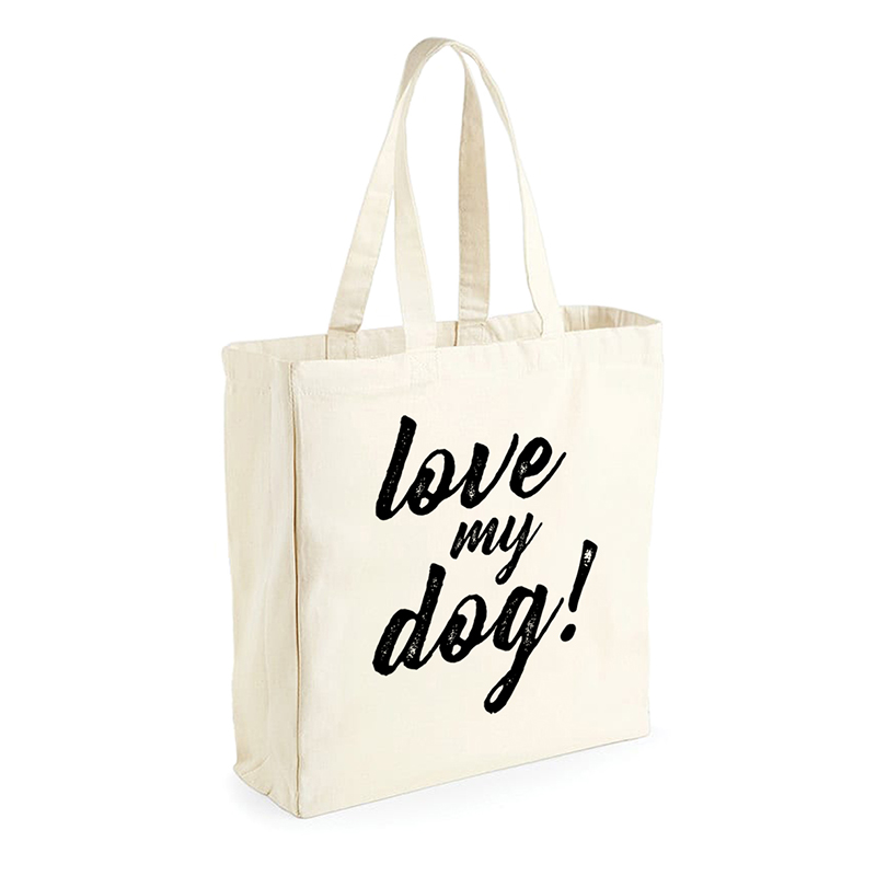 "Bolsa saco ""Love my dog"""