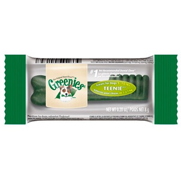 Greenies Snack de cuidado dental para perros Teenie 2-7 kg.
