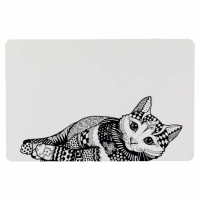 Salvamanteles Zentangle para gatos