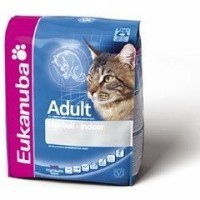 Pienso eukanuba adult hairball-indoor para gatos