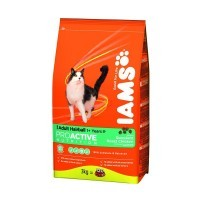 Iams adult hairball para gatos