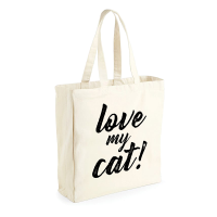 "Bolsa saco ""Love my cat"""