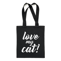 "Bolsa tote ""Love my cat"""
