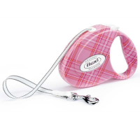 Correa extensible Flexi Fashion Ladies rosa para perros