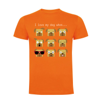 "Camiseta hombre ""I love my dog when..."""